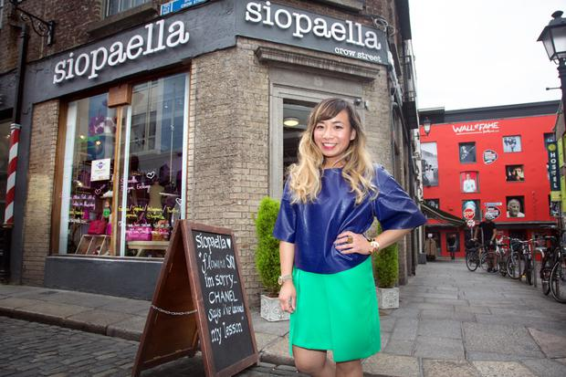 Ella de Guzman in her shop Siopaella in Temple Bar