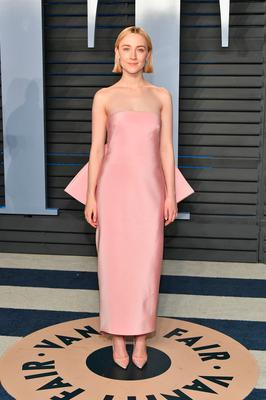 Pastels ruled at the Oscars this month, most spectacularly on Saoirse Ronan in a show-stopping Calvin Klein by Appointment gown. Photo: 2018 Getty Images