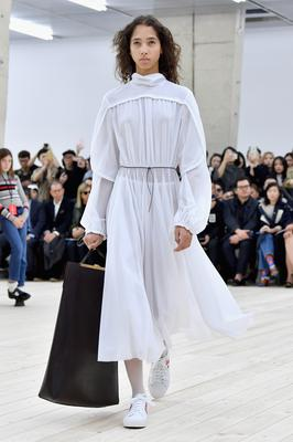 Big white dress: Celine
