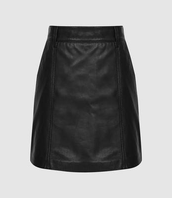 Leather skirt, €280 from Reiss