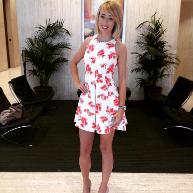 Stephanie Roche before the new consulate opening in Austin, Texas