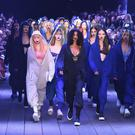 Stretching the boundaries: models at DKNY's spring-summer 2017 show