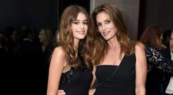 Kaia Gerber with her mother Cindy Crawford
