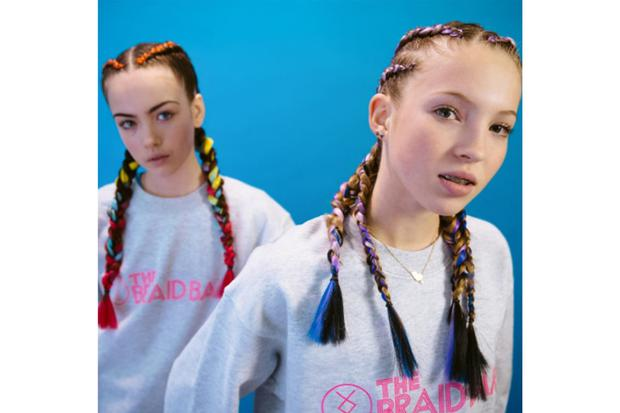 In the genes: Lila Grace fronts a new campaign for The Braid Bar with her pal Stella Jones