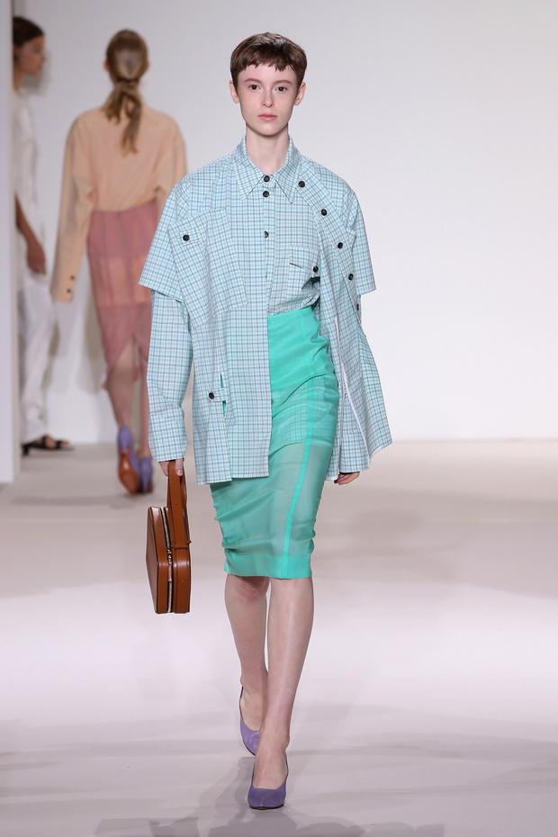 Pastels by Victoria Beckham in New York. Photo: Getty Images
