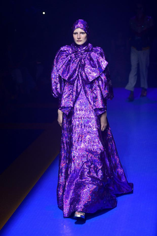 Purple reign: Gucci shows the ultra-violet trend on the catwalk. Photo: AFP/Getty Images