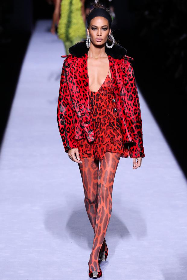 Roaring success: Leopard prints were on display in Tom Ford's collection in New York. Photo: Getty Images