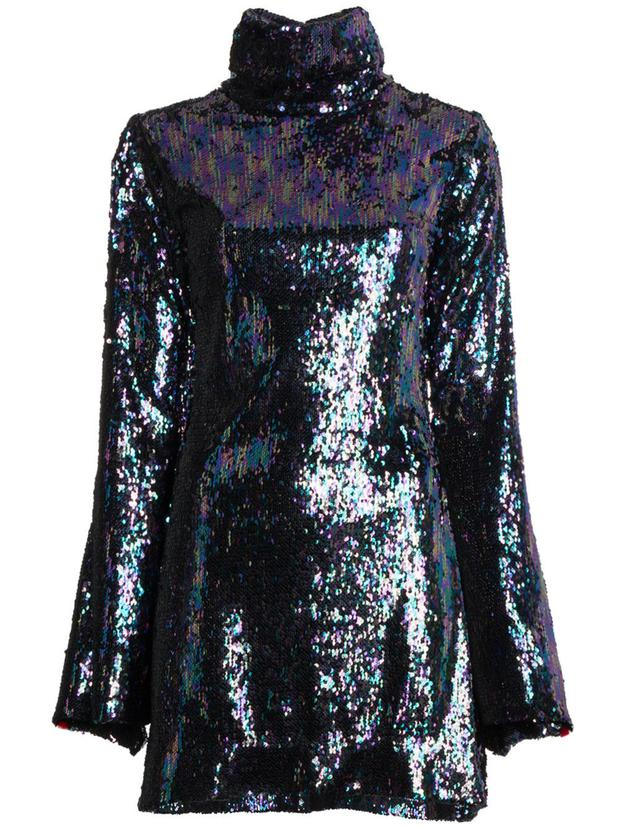 Sequinned dress, €1,525 from Halpern at farfetch.com