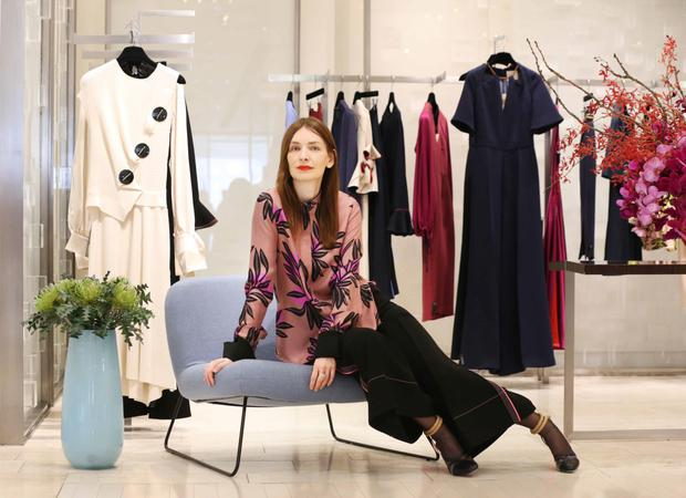 In demand: Roksanda, pictured here at Brown Thomas, has seen her dresses worn by Kate Middleton and Michelle Obama. Photo: Sasko Lazarov/Photocall Ireland