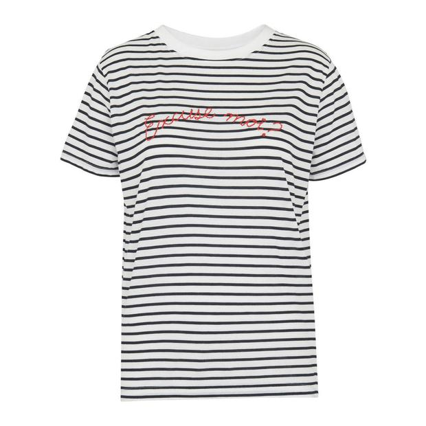 T-shirt, €65 from Whistles at Brown Thomas