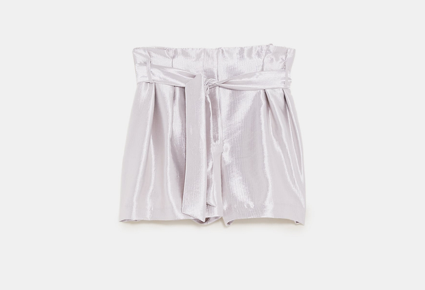 Metallic shorts, €39.95 from Zara