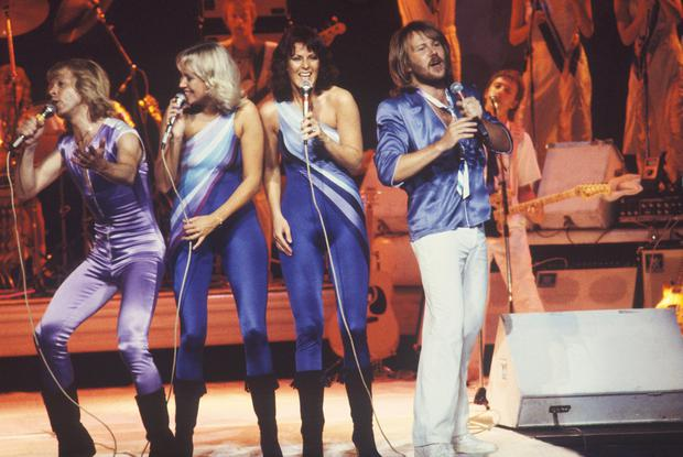 Abba's blue and purple jumpsuits aren't a million miles away from the ones we've recently seen on everyone from J-Lo to Beyonce.