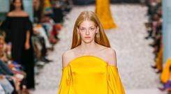 Marigold shades at Carolina Herrera