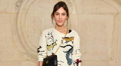 'Dior's were layered over midi and maxi skirts (as seen on Alexa Chung)' Photo: Getty