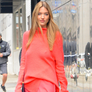 Model Martha Hunt showcases how to nail off-duty style in coral Sies Marjan.