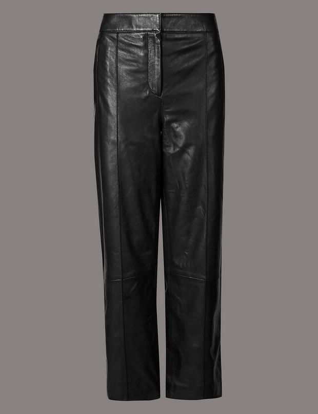 Leather trousers, €279 from M&S