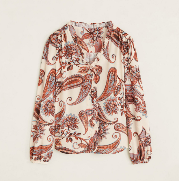 Blouse, €35.99 from Mango
