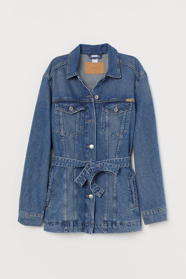 Belted denim jacket, €49.99 from H&M