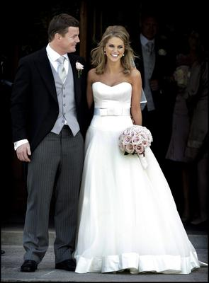 Brian O'Driscoll pictured with Amy Huberman