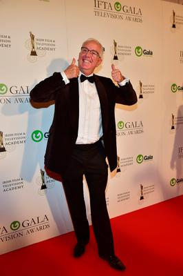 Mrs Brown's Boys Rory Cowen arriving on the red carpet for the IFTA Gala Television Awards at the Double Tree Hilton Hotel, Dublin. Photo: Michael Chester