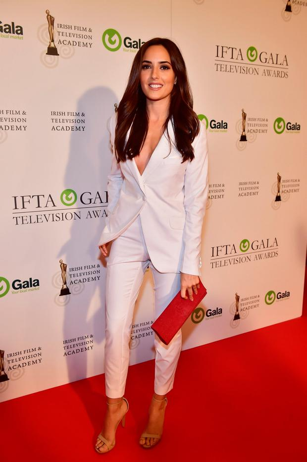 Nadia Forde arriving on the red carpet for the IFTA Gala Television Awards at the Double Tree Hilton Hotel, Dublin. Photo: Michael Chester