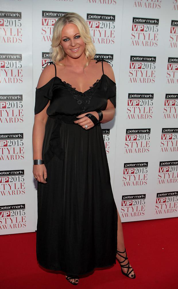 Amanda Brunker tonight on the Red Carpet at the VIP Style Awards 2015 at The Marker Hotel,Dublin