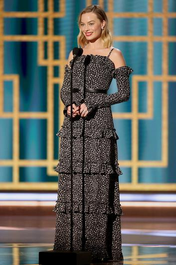 Margot Robbie in this handout photo from the 78th Annual Golden Globe Awards in Beverly Hills, California, U.S., February 28, 2021