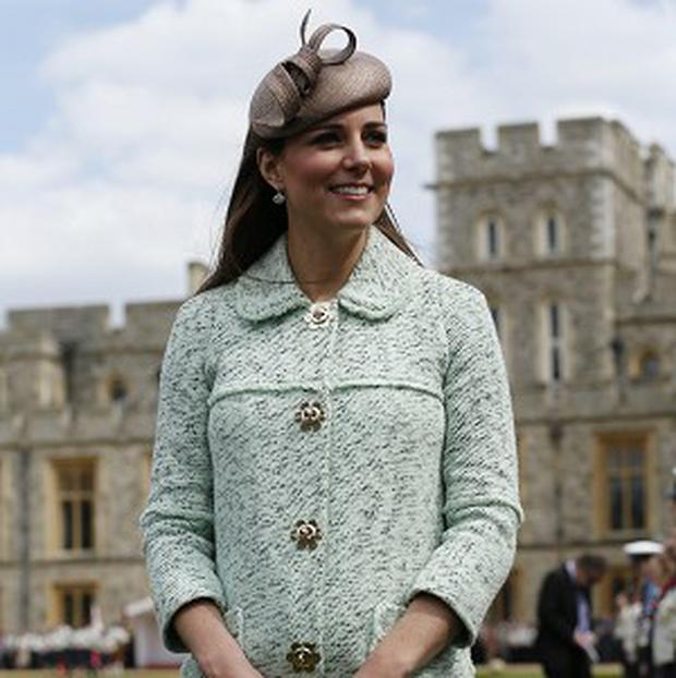 The Duchess of Cambridge attends the National Review of Queen's Scouts at Windsor Castle, Berkshire