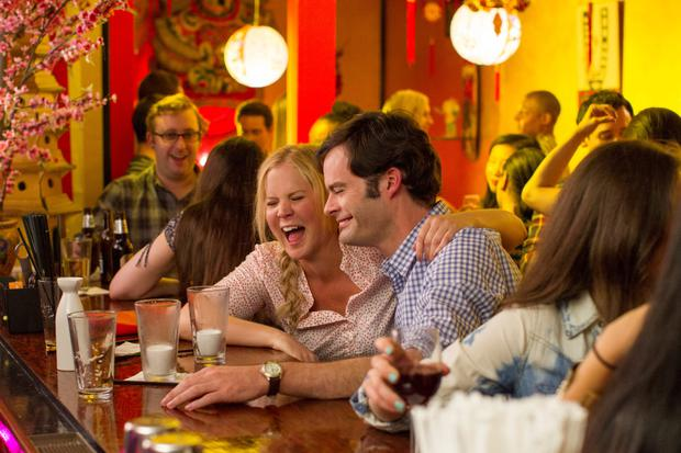 Amy Schumer with Bill Hader in a scene from Trainwreck