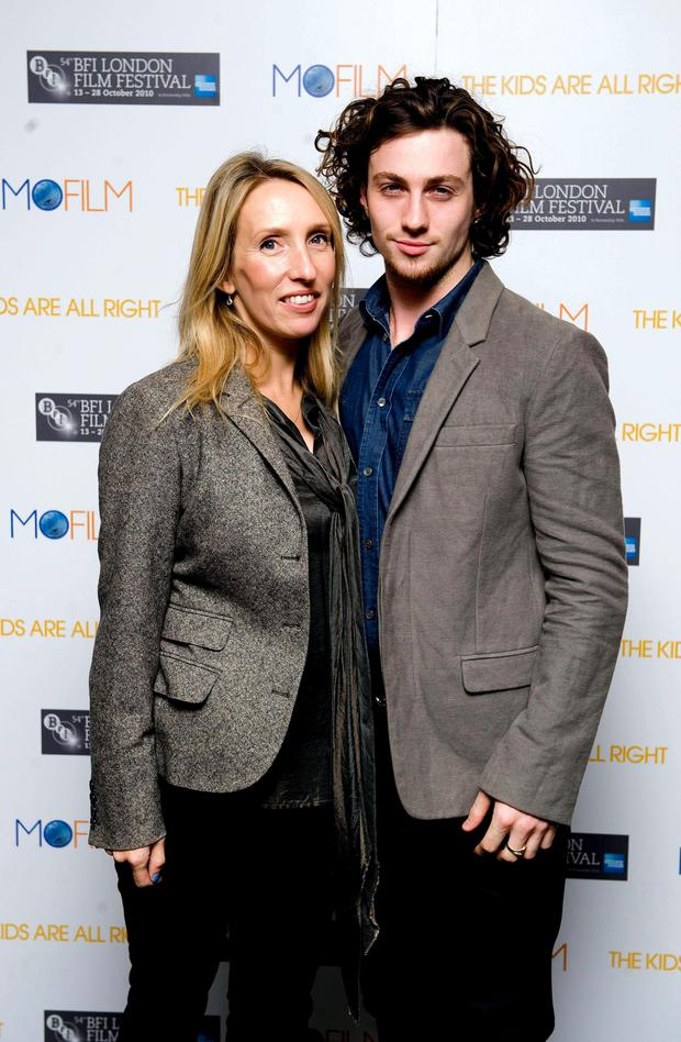 Director Sam Taylor-Wood and actor Aaron Johnson