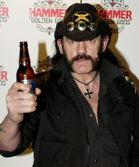 Don't try this at home, kids: Lemmy on top form Photo: PA