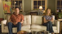 Two's company: Vince Vaughn and Jennifer Aniston are a couple who go to great lengths to keep their lavish condo from each other after splitting in the 2006 film 'The Break-Up'