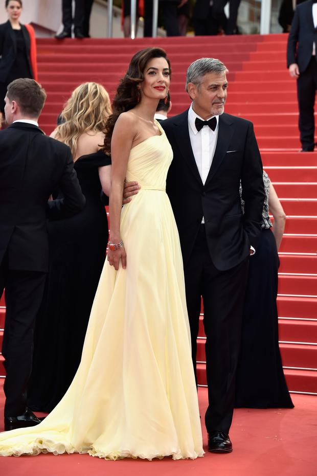 On the world stage: George and Amal, who's maiden name is Alamuddin