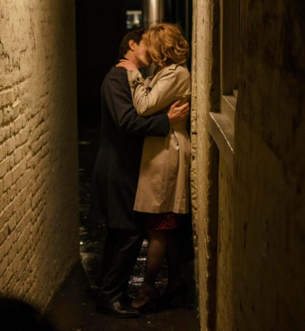 A passionate clinch between the two leads in Apple Tree Yard