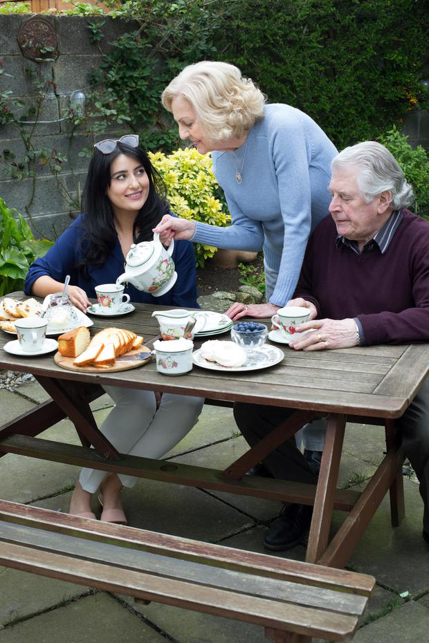 Family values: Sarah Kiely's visits her future mother in law Pauline and father in law Michael Lavelle. Photo: Tony Gavin