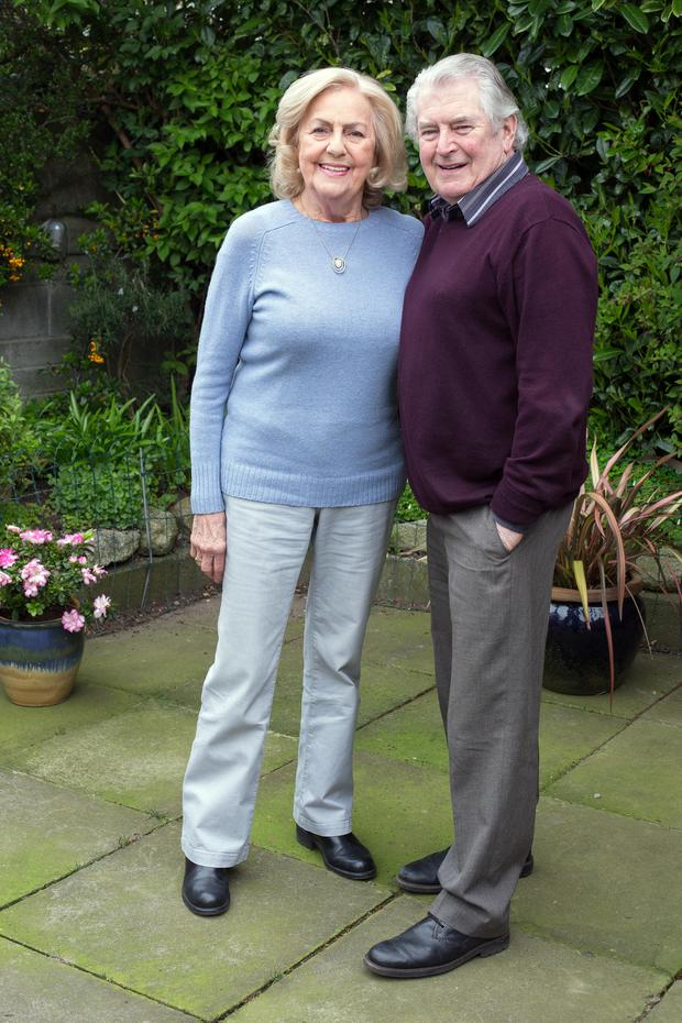 Happy together: Pauline and Michael