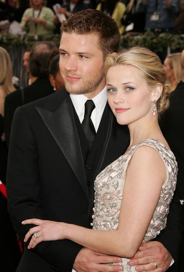 Actors Ryan Phillippe and Reese Witherspoon who divorced in 2007