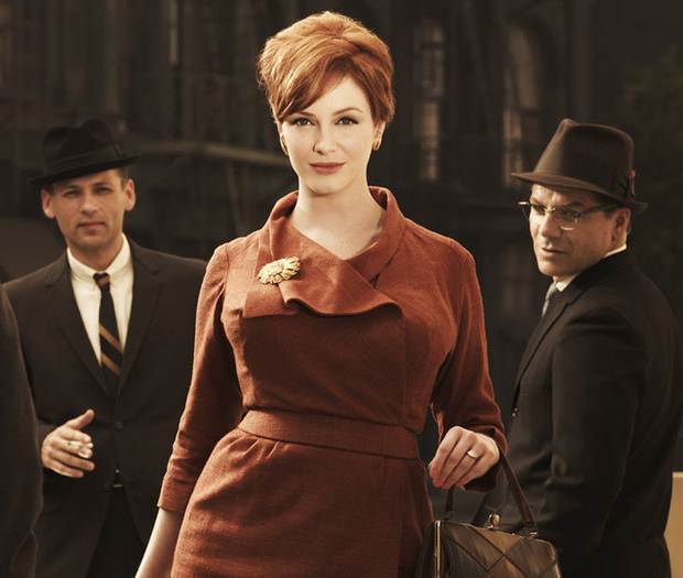 Confidence trick: Christina Hendricks' character Joan in Mad Men drew lots of male attention