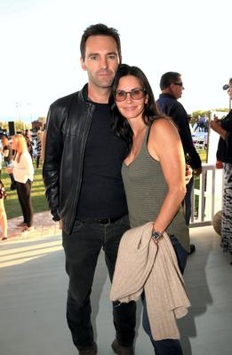 Johnny McDaid and actress Courteney Cox