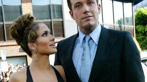 Ben Affleck and Jennifer Lopez pictured in 2003. (Photo by Frederick M. Brown/Getty Images)