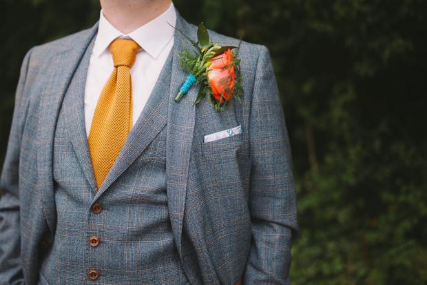 Pado's orange tie. Photography by Syona Photography