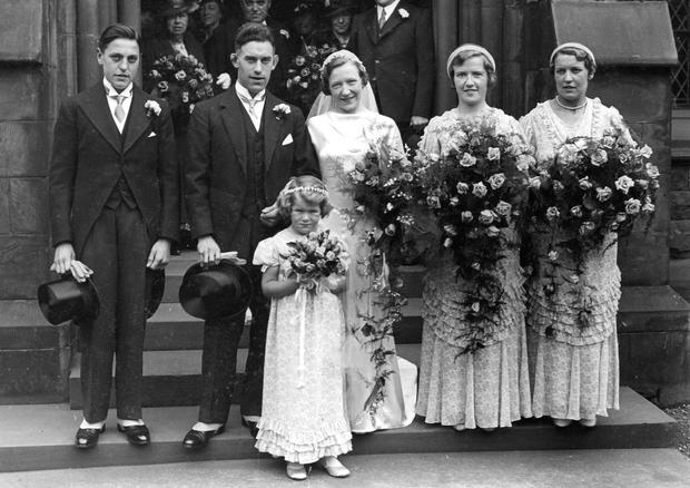 Church wedding in Ireland in the 1930's, people Unknown. (Part of the NPA and Independent Newspapers Collection)