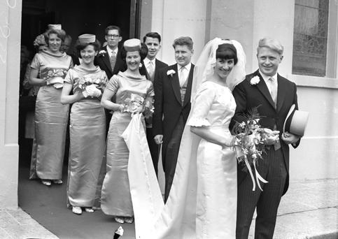 Wedding of Mr. Ken Hingston and Miss Emerald McManus in Booterstown 1964.