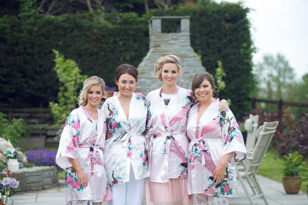 The bride and bridesmaids. Photography by Ros & Tom of Couple Photography, visit couple.ie