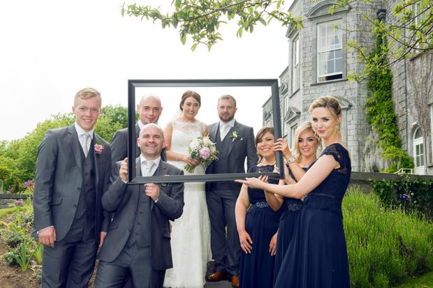 Laura and Ray with their bridal party: Photography by Ros & Tom of Couple Photography, visit couple.ie