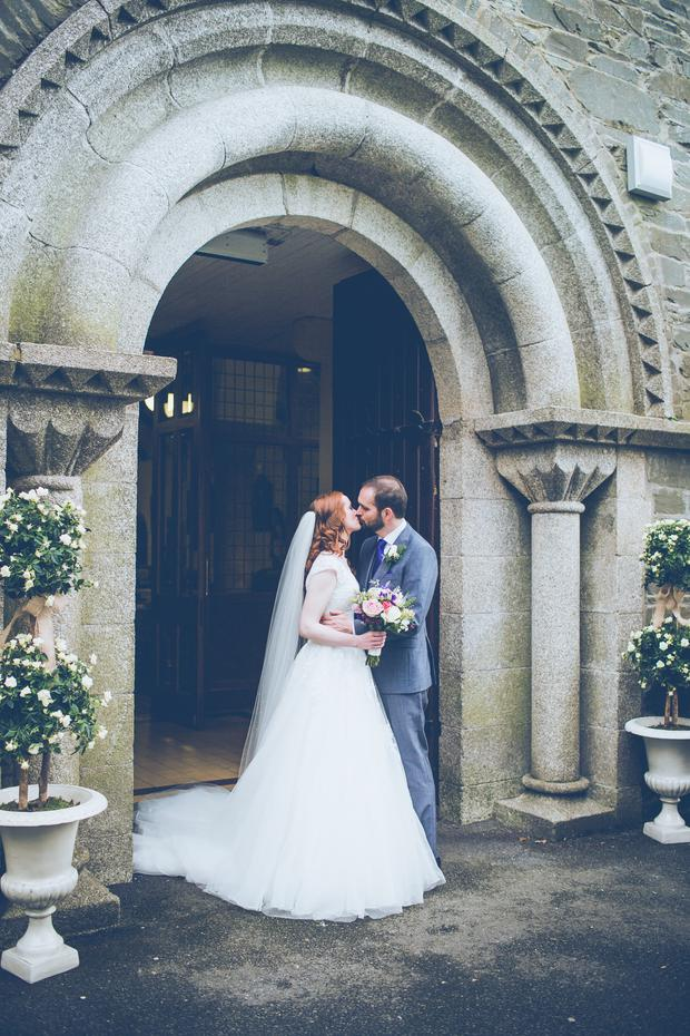 Alex and Linda at Laurence Church in Ballitore, Co Kildare. Photography by Christopher Dolinny, visit dolinnyphotography.ie