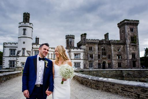 Lucy and James at Wilton Castle. Photography by Christopher Dolinny, visit dolinnyphotography.ie