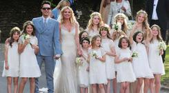 Kate Moss and Lila Grace as flowergirl at her wedding to Jamie Hince