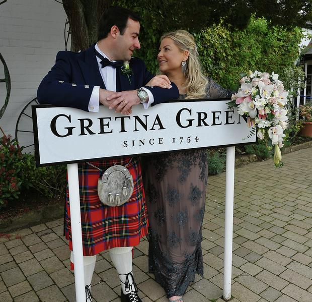 Rozanne Stevens with her new husband Roman
