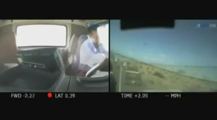 Shocking footage: Truck driver was watching porn at time of fatal crash